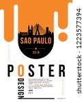 sao paulo modern poster design... | Shutterstock .eps vector #1223577394