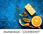 organic cosmetic with citrus on ... | Shutterstock . vector #1223582437