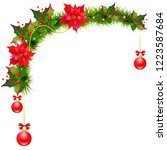 christmas garland with... | Shutterstock . vector #1223587684
