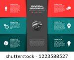 vector multipurpose infographic ... | Shutterstock .eps vector #1223588527