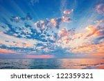 A Beautiful Sunset Sky Over The ...