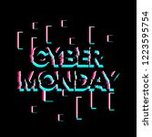 cyber monday  creative greeting ... | Shutterstock .eps vector #1223595754