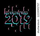 happy new year 2019  creative... | Shutterstock .eps vector #1223595757