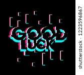 good luck  creative greeting... | Shutterstock .eps vector #1223596867