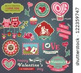 collection of valentine design... | Shutterstock .eps vector #122359747