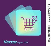 shopping cart with cross sign.... | Shutterstock .eps vector #1223599141