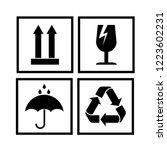 packaging cargo symbols in form ... | Shutterstock .eps vector #1223602231
