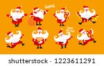 big collection of christmas... | Shutterstock .eps vector #1223611291