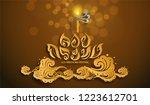 thailand travel concept. thai... | Shutterstock .eps vector #1223612701