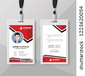 creative red id card design... | Shutterstock .eps vector #1223620054