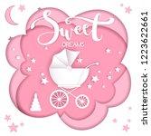 vector paper cut illustration... | Shutterstock .eps vector #1223622661