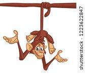 cute cartoon chimpanzee monskey ...   Shutterstock .eps vector #1223622847