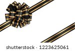decorative black bow with... | Shutterstock .eps vector #1223625061