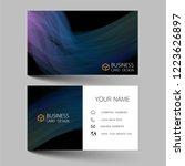 business card template design....   Shutterstock .eps vector #1223626897
