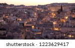 houses built into the rock in... | Shutterstock . vector #1223629417