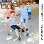 happy glad  cheerful positive... | Shutterstock . vector #1223638687