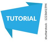 tutorial sign label. tutorial... | Shutterstock .eps vector #1223641594