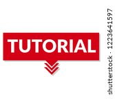 tutorial sign label. tutorial... | Shutterstock .eps vector #1223641597