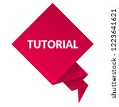 tutorial sign label. tutorial... | Shutterstock .eps vector #1223641621