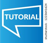 tutorial sign label. tutorial... | Shutterstock .eps vector #1223641624