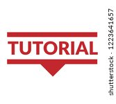 tutorial sign label. tutorial... | Shutterstock .eps vector #1223641657