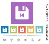 file previous flat white icons...   Shutterstock .eps vector #1223641747