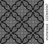 black and white seamless... | Shutterstock .eps vector #1223642467