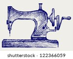 Old Sewing Machine. Doodle...