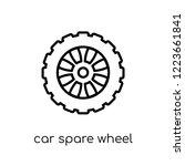 car spare wheel icon. trendy...   Shutterstock .eps vector #1223661841