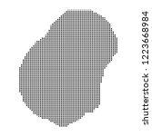 pixel mosaic map of nauru on...