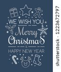 concept of christmas greeting... | Shutterstock .eps vector #1223672797