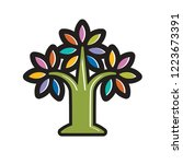 isolated colorful tree icon... | Shutterstock .eps vector #1223673391