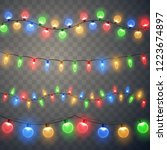 christmas lights. colorful... | Shutterstock .eps vector #1223674897