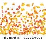 oak  maple  wild ash rowan... | Shutterstock .eps vector #1223679991