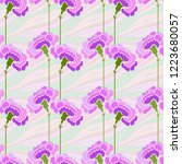 seamless pattern with carnation ... | Shutterstock .eps vector #1223680057