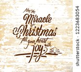 miracle christmas lettering on... | Shutterstock .eps vector #1223683054