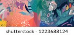 floral background. trendy... | Shutterstock .eps vector #1223688124