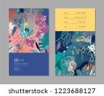 creative universal artistic... | Shutterstock .eps vector #1223688127