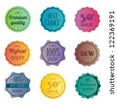 set of retro ribbons and labels.... | Shutterstock .eps vector #122369191