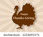 happy thanksgiving celebration...   Shutterstock .eps vector #1223692171
