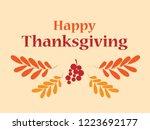 happy thanksgiving greeting....   Shutterstock .eps vector #1223692177