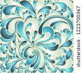 silk texture fluid shapes ... | Shutterstock .eps vector #1223700367