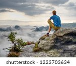 man enjoy fantastic dreamy... | Shutterstock . vector #1223703634