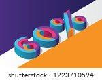 isometric 60  percent off  3d... | Shutterstock .eps vector #1223710594