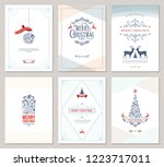 elegant vertical winter... | Shutterstock .eps vector #1223717011