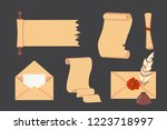 old paper scroll vector set.... | Shutterstock .eps vector #1223718997