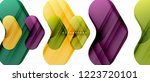 colorful glossy arrows abstract ... | Shutterstock .eps vector #1223720101