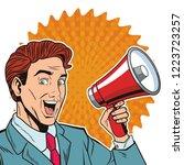 pop art businessman cartoon | Shutterstock .eps vector #1223723257