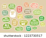 set of stickers with handmade... | Shutterstock .eps vector #1223730517