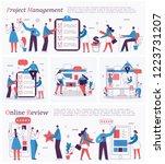 set of vector concept... | Shutterstock .eps vector #1223731207
